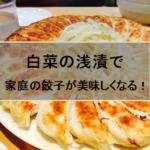 白菜の浅漬餃子レシピ